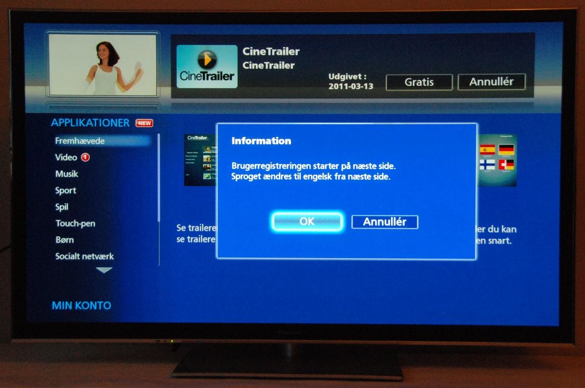 hvid smart tv