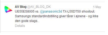 Samsung ES8005 Panasonic DT50 tweet