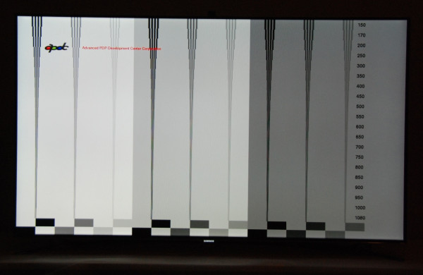 Samsung UE46F8005 motion resolution
