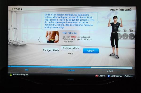 Samsung UE55ES8005 fitness app