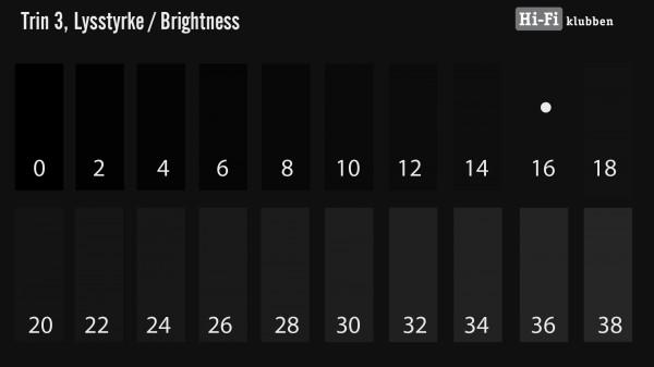 Hi-Fi Klubben Quick Calibration lysstyrke og black level