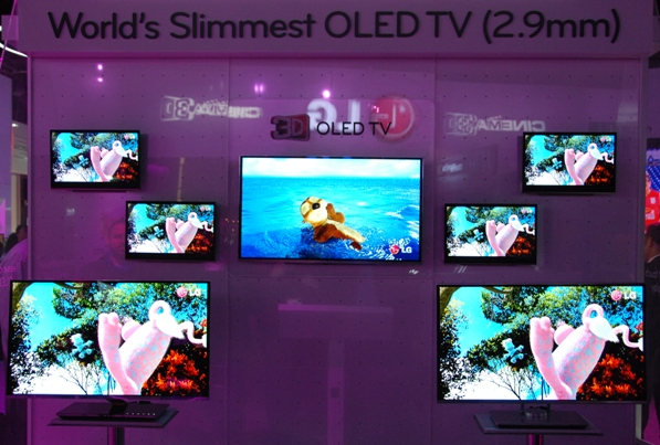LGs 3d OLED skærme