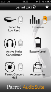Parrot Zik iphone app