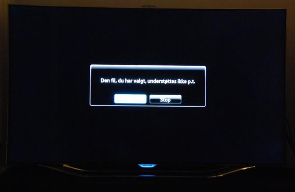 Samsung UE55ES8005 MKV-afspilning fra NAS