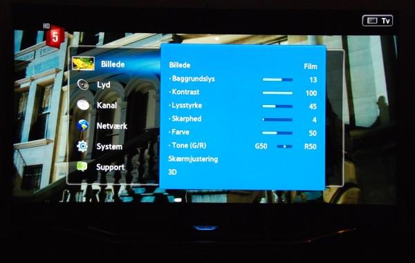 Samsung UE55ES8005 Menu