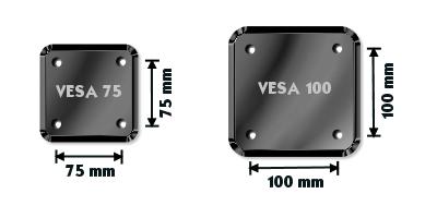 Vægbeslag fladskærm VESA 75 og VESA 100 - Grafik brugt med tilladelse fra recordere.dk