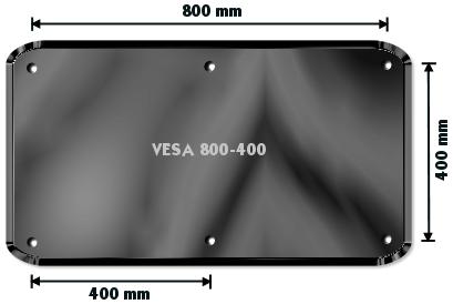 Vægbeslag fladskærm VESA 800 - Grafik brugt med tilladelse fra recordere.dk