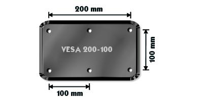 Vægbeslag fladskærm VESA 200 - Grafik brugt med tilladelse fra recordere.dk
